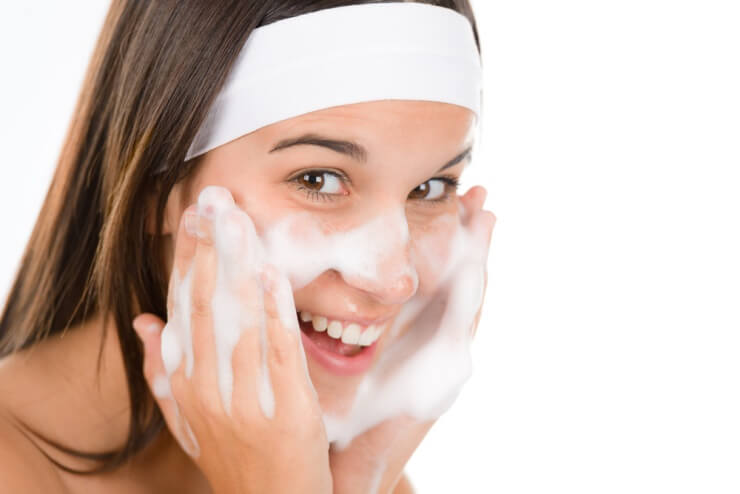 重曹洗顔の方法